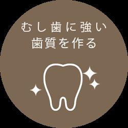 むし歯に強い歯質を作る